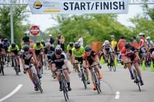 Photos of competitors in WMU's Criterium Bike Race.