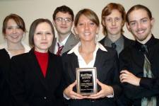 Photo of a past Ethics Bowl team.