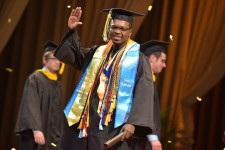 Photo of J. Gabriel Ware at his WMU graduation.