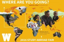 Study Abroad Fair flier.