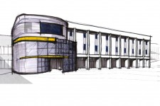Artist's rendering of WMU's Richmond Product Design and Innovation Institute.