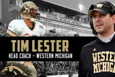 Photo of Tim Lester, head WMU football coach, 2017.