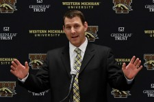 Photo of WMU head football coach Tim Lester.