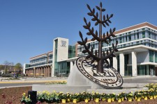 Western Michigan University Gathering Tree sculpture.