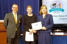 Joe VanDerBos, Kristie Canegallo and Dr. Lisa Marshall.