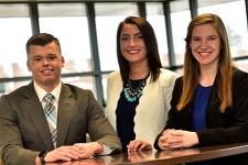 Photo of Jeremy Juday, Kaitlyn Phillips and Lauren Nowakowski.