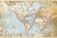 Photo of a world map.