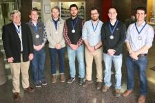 Dr. Robb Gillespie, Clayton Joupperi, Matt Hemenway, Mohammed Al Musawi, Zaid Nadhim, Jack Hybza and Kyle Patterson.