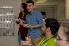 Photo of WMU's International Student Activities' ice cream social.