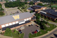 Aerial shot of WMU's main campus.