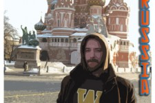 Graphic of WMU's 2017 Study Abroad Fair poster showing an image of a WMU student standing in front of a Russian building.