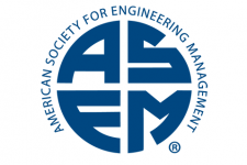 Logo for the American Society for Engineering Management showing ASEM in capital letters encircled by the society's full name.