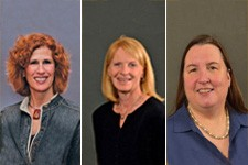 Montage of three female professors