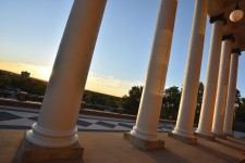 WMU's Heritage Hall portico.