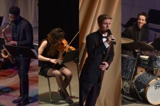 Photo collage showing showcase performances.