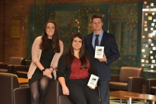 WMU sales and business marketing students Marissa Bruno, Stacy Zoeller and Ryan Demas.