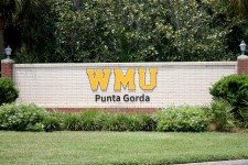 Brick entrance sign reads: WMU Punta Gorda.