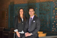 Photo of WMU sales students Laurel Wright and Tyler Nabozny.