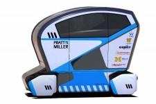 Rendering of the autonomous electric shuttle.