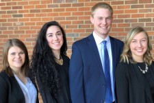 Photo of WMU students Katherine Anderson, Lucija Matkovic, John Schneidenbach and Erika Hejl.