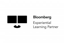 Photo of a logo with the words Bloomberg Experiential Learning Partner