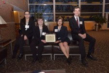 Photo of WMU accountacy students Veronicaa Mehta, Shelby Christian, Jessica Chin and Max Fiebelkorn.