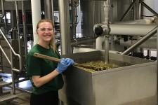Sydney Taylor brews beer.