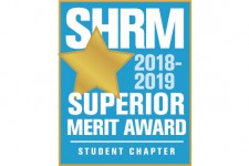 Logo that reads SHRM 2018-2019 superior merit award.