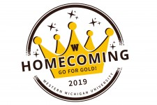 Logo with the words Homecoming Go for Gold! 2019 Western Michigan University.