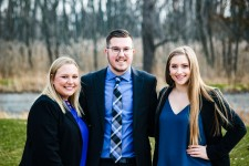(Left to right) WMU students Lexi Payne, Parker Hurley and Liz Volante.