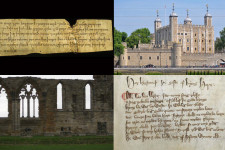 A castle and historic writings.
