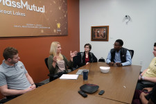 Students in the Robert S. Kaiser Sales, Negotiation and Leadership Lab