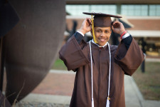 A photo of JaJuan Kemp in his cap and gown.