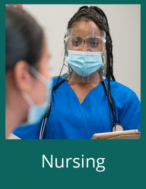 Pictured is a Nursing photo.