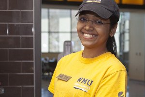 Photo of WMU Dining Services student worker