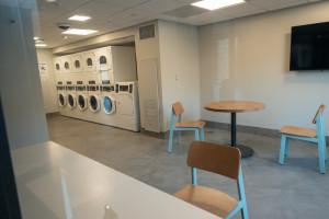 A laundry room.