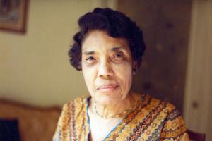 A portrait of Merze Tate.