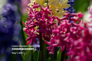 Program cover: Flowers blooming on WMU's campus