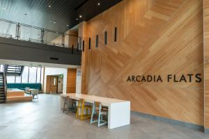 Main entrance of Arcadia Flats