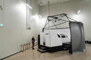 A flight simulator.