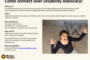 Image of disability advocacy flyer