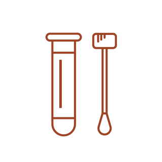 A cartoon of medical testing equipment.