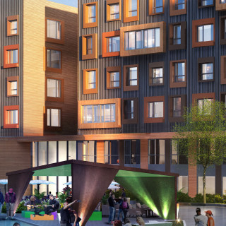 A rendering of the new buildings that are currently under construction