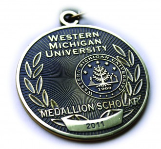 The Medallion, which is given to Medallion Scholars. It features the WMU seal and the year the award is given.