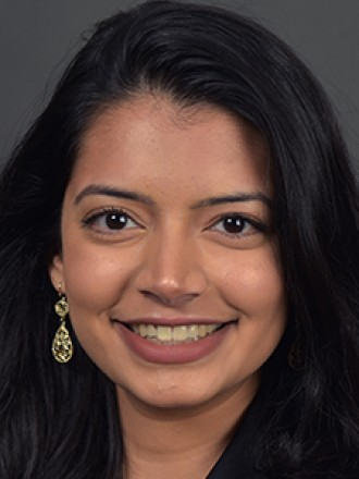 Head and shoulders portrait of Pooja Mandagere.