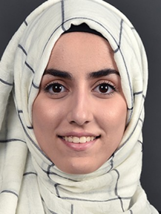 Head and shoulders portrait of Shaima Shebrain.