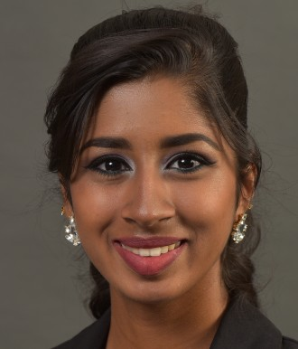 Head and shoulders portrait of Sruthi Rameshkumar.