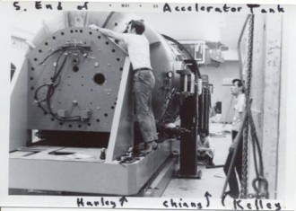 End of accelerator tank. Harley, Chiang, Kelley
