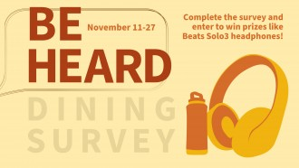 Be Heard Survey Graphic Nov. 11 through 27