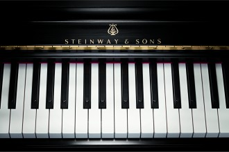 Photo of a Steinway & Sons piano.